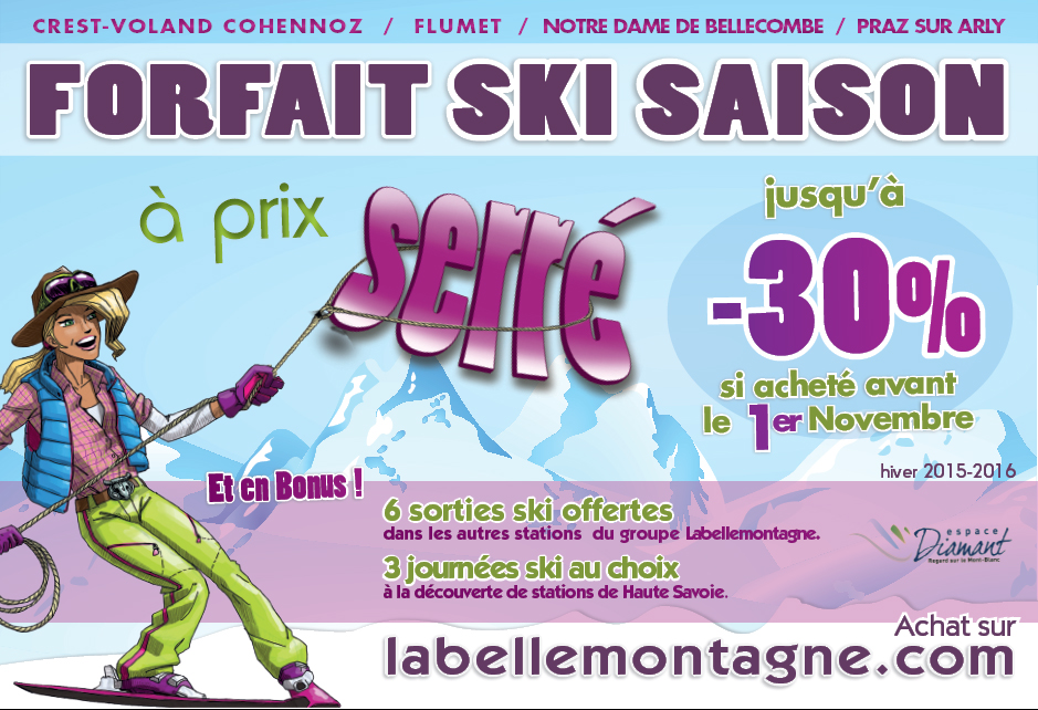 Buy your season skipass at a reduced price office de - Office de tourisme notre dame de bellecombe ...